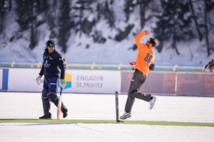 St. Moritz Ice Cricket - Elliott - Symonds
